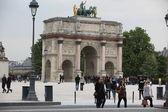 Arco del triunfo en parís — Foto de Stock