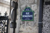 Rue Bonaparte street sign in Paris, France — Stock Photo