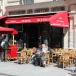 View of typical paris cafe — Stock Photo #46674425