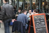View of typical paris cafe — Stock Photo