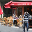 View of typical paris cafe — Stock Photo #47063425