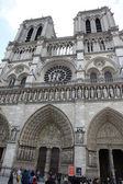 Notre Dame cathedral of Paris, France, — Stock Photo