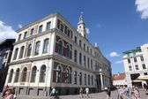 Buildings in Old Town in Riga, Latvia — Foto Stock