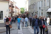 Vilnius oldtown street ,Lithuania — Stock Photo