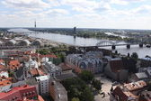 Aerial view over the Old Riga City — Zdjęcie stockowe