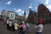 Square in old part of Riga, Latvia — Zdjęcie stockowe