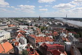 Aerial view over the Old Riga City — Foto Stock