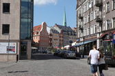 Square in old part of Riga, Latvia — 图库照片