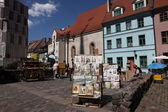 Square in old part of Riga, Latvia — ストック写真