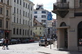 The streets in old town, Riga, Latvia — Foto Stock