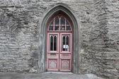 Door in stone wall — Stock Photo