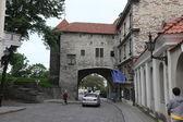 Alte Straße in tallin — Stockfoto