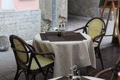 Cafe in Tallin — Stock Photo