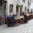 Street cafe in Tallinn — Stock Photo #49339555
