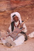Arab musician in Petra, Jordan — Stock Photo