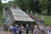 Peterhof. Fountain Chess hillock. — Stock Photo