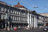 Nevsky Prospect St.Petersburg, Russia. Main street St.Petersburg, planned by Peter the Great as beginning of the road to Novgorod and Moscow — Stock Photo