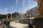 Grand cascade in Pertergof — Stock Photo