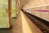 Underground subway station Vyborgskaya Interior — Stock Photo