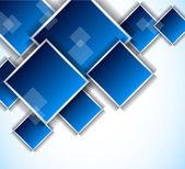 Fondo con cuadrados azules — Vector de stock