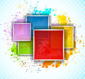 Background with squares — Stock Vector