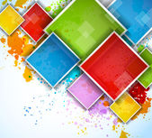 Colorful squares — Stock Vector