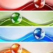 Set of banners with globes — Stock Vector #12776491