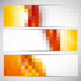 Set of banners with squares — Stock Vector