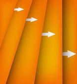 Hintergrund mit orangefarbenen linien — Stockvektor