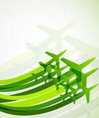 Uçaklar ile arka plan — Stok Vektör