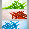 Set of banners with airplanes — Stock Vector