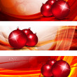 Set of xmas banners — Vector de stock