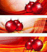 Set of xmas banners — Stock Vector
