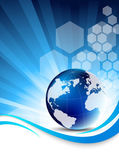 Blue tech background — Stock Vector