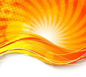 Bright orange background — Stock Vector