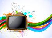 Arka plan ile tv — Stok Vektör