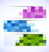 Set of pixelated banners — Stock Vector