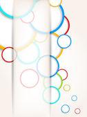 Bakgrund med färgglada cirklar — Stockvektor