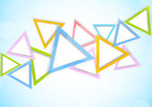 Background with triangles — Stock Vector