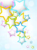 Background with colorful stars — Stock Vector