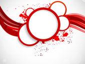 Fond avec des cercles rouges — Vecteur