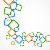 Arka plan ile renkli kareler — Stok Vektör