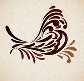 Hintergrund mit stilisierten vogel — Stockvektor