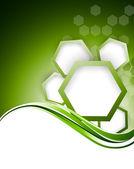 Abstracte groene bacgkround met zeshoeken — Stockvector