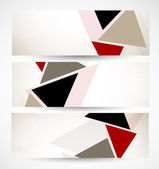 Set of banners with triangles — Stock Vector
