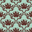 Damask pattern — Stockvectorbeeld
