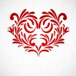 Background with floral heart — Vector de stock