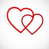 Bakgrund med hjärtan — Stockvektor
