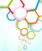 Background with hexagons — Stock Vector