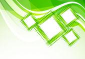 Sfondo verde con piazze — Vettoriale Stock